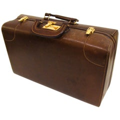 Atlas Vintage Leather Suitcase Overniter  Holiday Gift