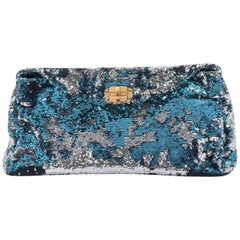 Miu Miu Convertible Flap Bag Sequin Embellished Leather Large