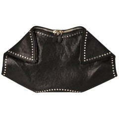 Alexander McQueen Black De Manta Clutch Bag