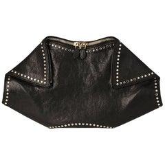 Alexander McQueen Black De Manta Clutch Bag