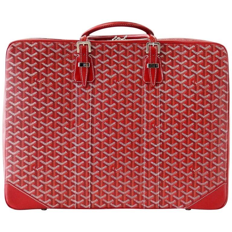 Goyard Suitcase Soft Red Signature Monogram Majordome 50 Palladium Fittings 1