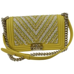 Chanel Catwalk Sample Cruise Collection Yellow Leather Boy 25 Bag