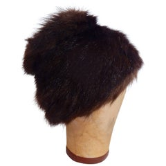 1950s Franklin Simon Mink Fur Hat