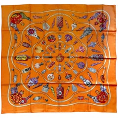 Hermes Qu'importe le Flacon Silk Scarf by Catherine Baschet