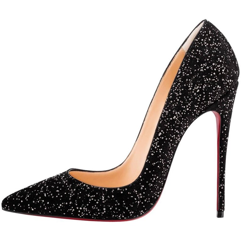 Christian Louboutin New Holiday Black So Kate Evening Heels Pumps in Box