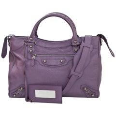 Balenciaga Lavender Chevre Giant 12 Silver Velo Messenger Bag