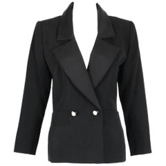 "Yves Saint Laurent YSL Haute Couture ""Le Smoking"" Tuxedo Jacket & Skirt No.64222"
