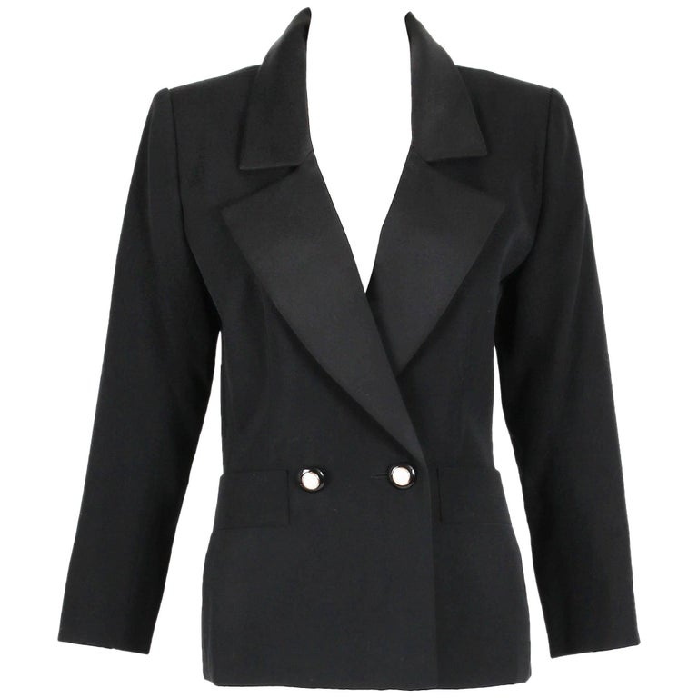 "Yves Saint Laurent YSL Haute Couture ""Le Smoking"" Tuxedo Jacket & Skirt No.64222 1"