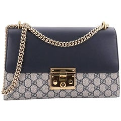 Gucci GG Padlock Coated Canvas and Leather Medium Shoulder Bag