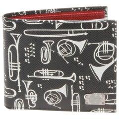 Dolce and Gabbana Horn Saffiano Bi Fold  Wallet