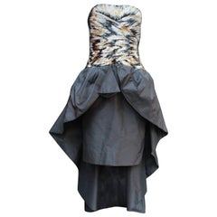 1980s Loris Azzaro cocktail bustier dress