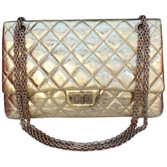 Chanel quilted golden leather bag, 2.55 Model, limited edition