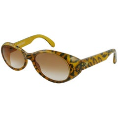 Christian Lacroix Vintage Leopard Print Sunglasses Model 7329