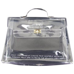 HERMES Collector See Through Kelly Bag Special Security Bag Check-in 1996 32 cm