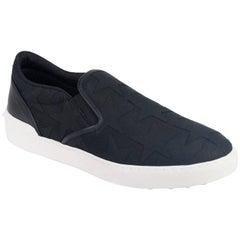 Valentino Mens Tonal Black Star Canvas Rockstud Slip On Sneakers