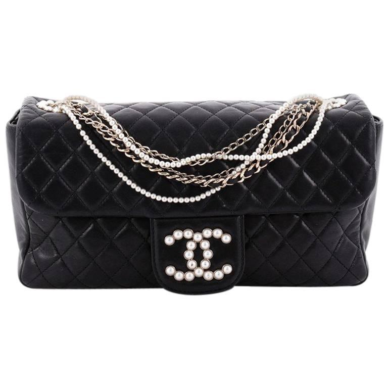 ed815cad85ddb6 Chanel Westminster Quilted Lambskin Medium Pearl Chain Flap Bag For Sale