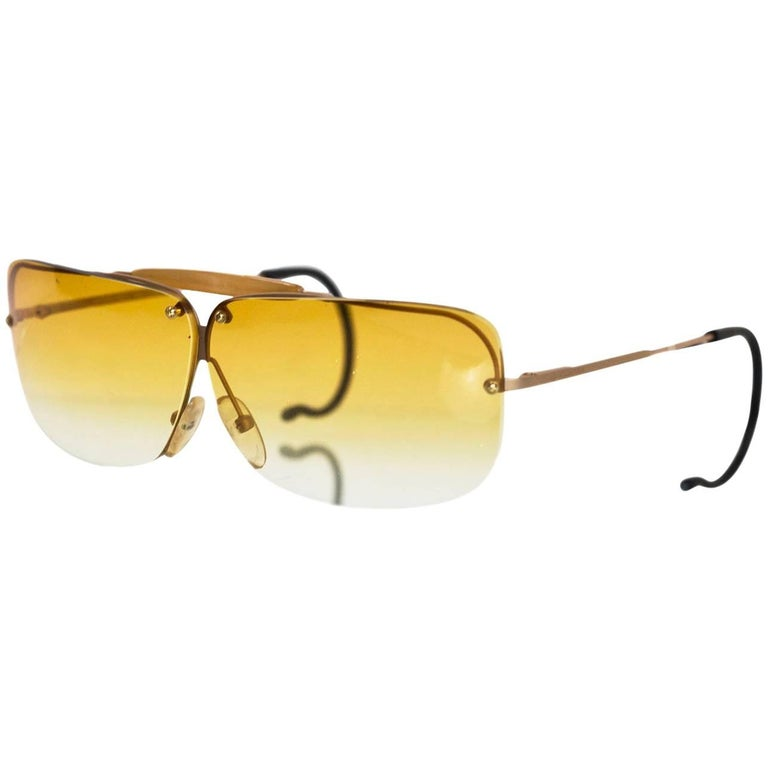2a39021b6f72 Bottega Veneta Vintage Yellow Ombre Sunglasses with Case For Sale at ...