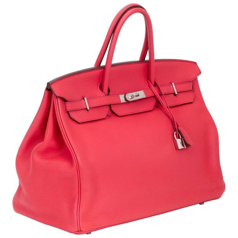 Hermès Rose Jaipur 40cm Birkin Bag For Sale
