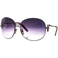 Fendi Purple Round Sunglasses with Case