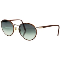 Persol Round Frame Tortoise Sunglasses with Case