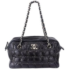 2000s Chanel Quilted Rectangular Chain Top Handle Bag