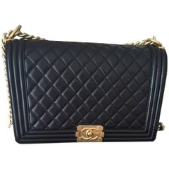 Chanel New Medium Boy Bag in Quilted Lambskin Leather