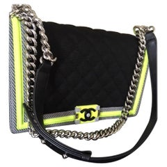 Chanel New Medium Mesh Canvas Boy Bag - BRAND NEW IN BOX