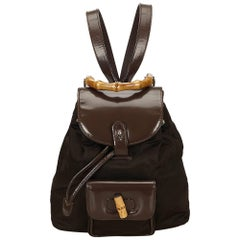 Gucci Brown Bamboo Backpack