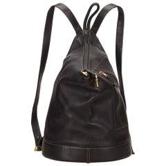 Loewe Black Leather Anton Backpack