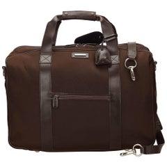Gucci Brown Nylon Duffel Bag