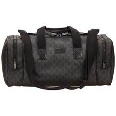 Gucci Black Guccissima Duffel Bag