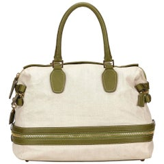 Chloe White Cotton Handbag