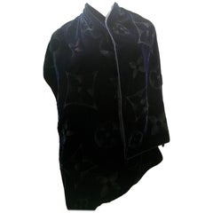 Louis Vuitton Scarf/Shawl  Blue Velvet RARE