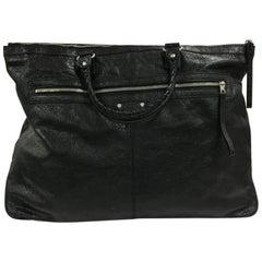 Balenciaga Zip Top Handle Bag Leather Oversized