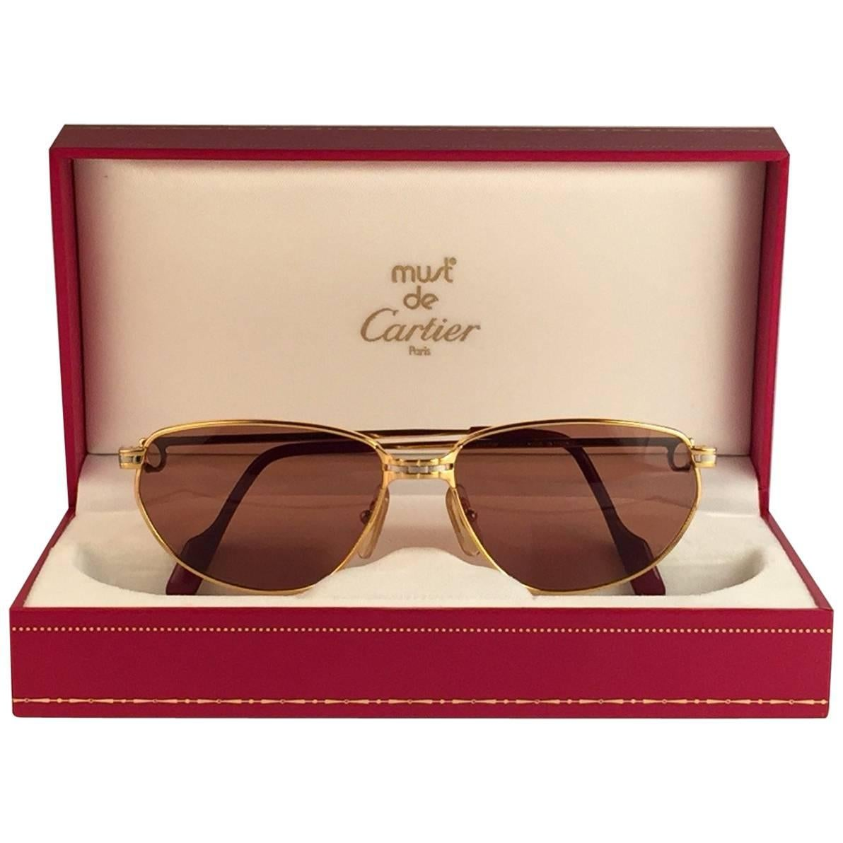 a7dc1184ec65 Cartier Vintage Panthere GM Sunglasses 59 14