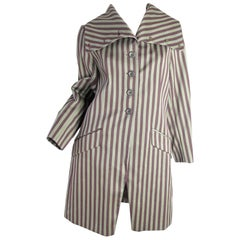 Dries Van Noten Early Striped Jacket with extra large Collar