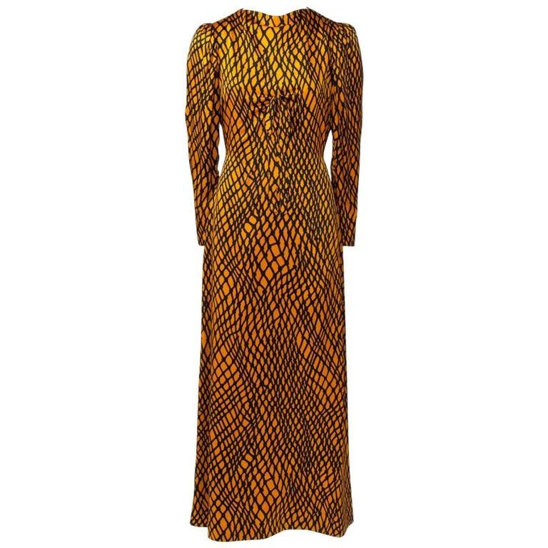 97579b5c47c Yves Saint Laurent Patron Original Evening Dress For Sale at 1stdibs