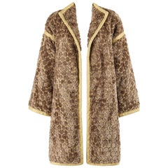 STANLEY PLATOS - MARTIN ROSS c.1980's Circular Patterned Fur & Lurex Opera Coat