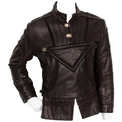 Vintage Black Leather Doublet from the Royal Shakespeare Theater