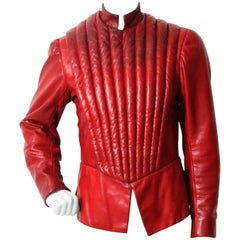 Vintage Red Leather Doublet from the Royal Shakespeare Theater