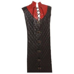Vintage Quilted Long Leather Vest from Royal Shakespeare Theater