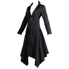 Jean Paul Gaultier Vintage Black Avant Garde Steampunk Coat or Dress, 1990s