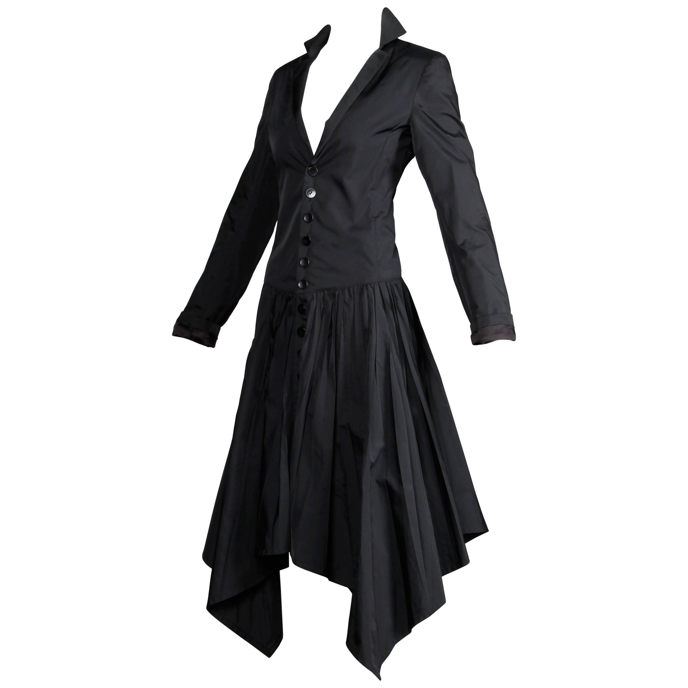 Jean Paul Gaultier Vintage Black Avant Garde Steampunk Coat or Dress, 1990s