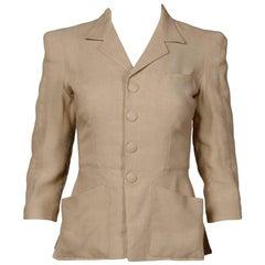 1990s Jean Paul Gaultier Femme Vintage Beige/ Blush Blazer Jacket