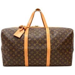 Louis Vuitton Sac Souple 55 Monogram Canvas Duffle Travel Bag