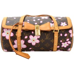 Louis Vuitton Papillon 27 Cherry Blossom Murakami 2003 Limited Hand Bag