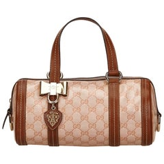 Gucci Brown GG Crystal Duchessa Bag