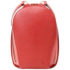 Louis Vuitton Mabillon Red Epi Leather Backpack Bag