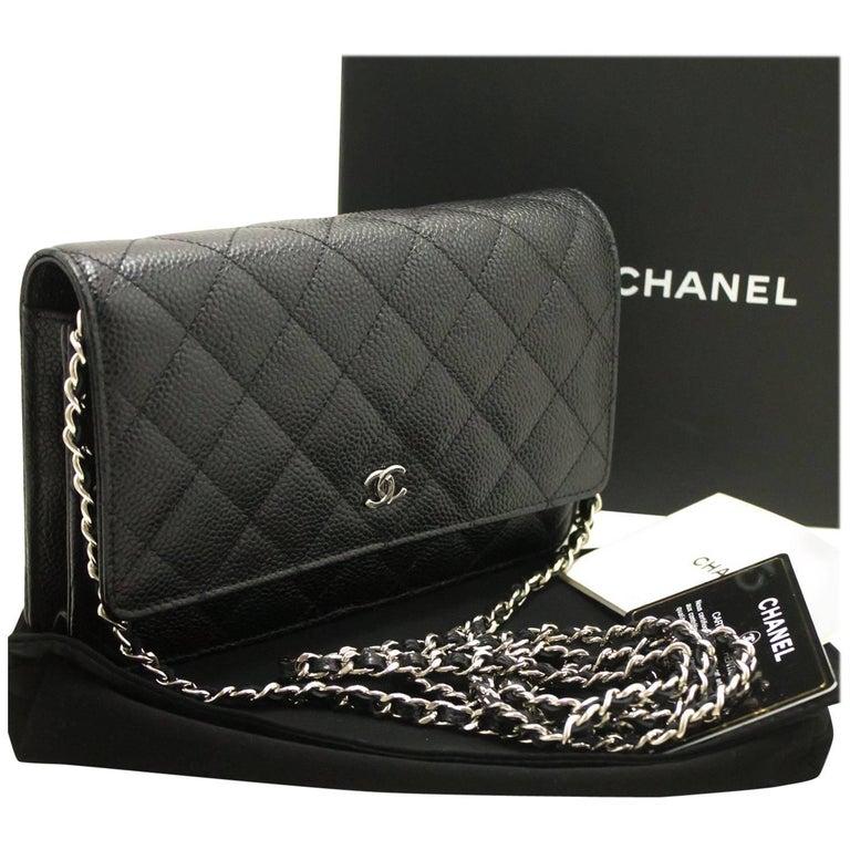243b631cac43 Chanel Caviar Wallet On Chain Woc Black Shoulder Bag Crossbody Sv ...