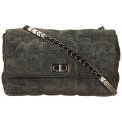 Chanel Gray Leather Puzzle Bag